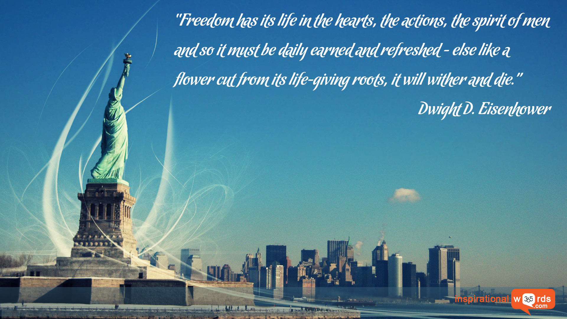 Inspirational Wallpaper Quote by Dwight D. Eisenhower