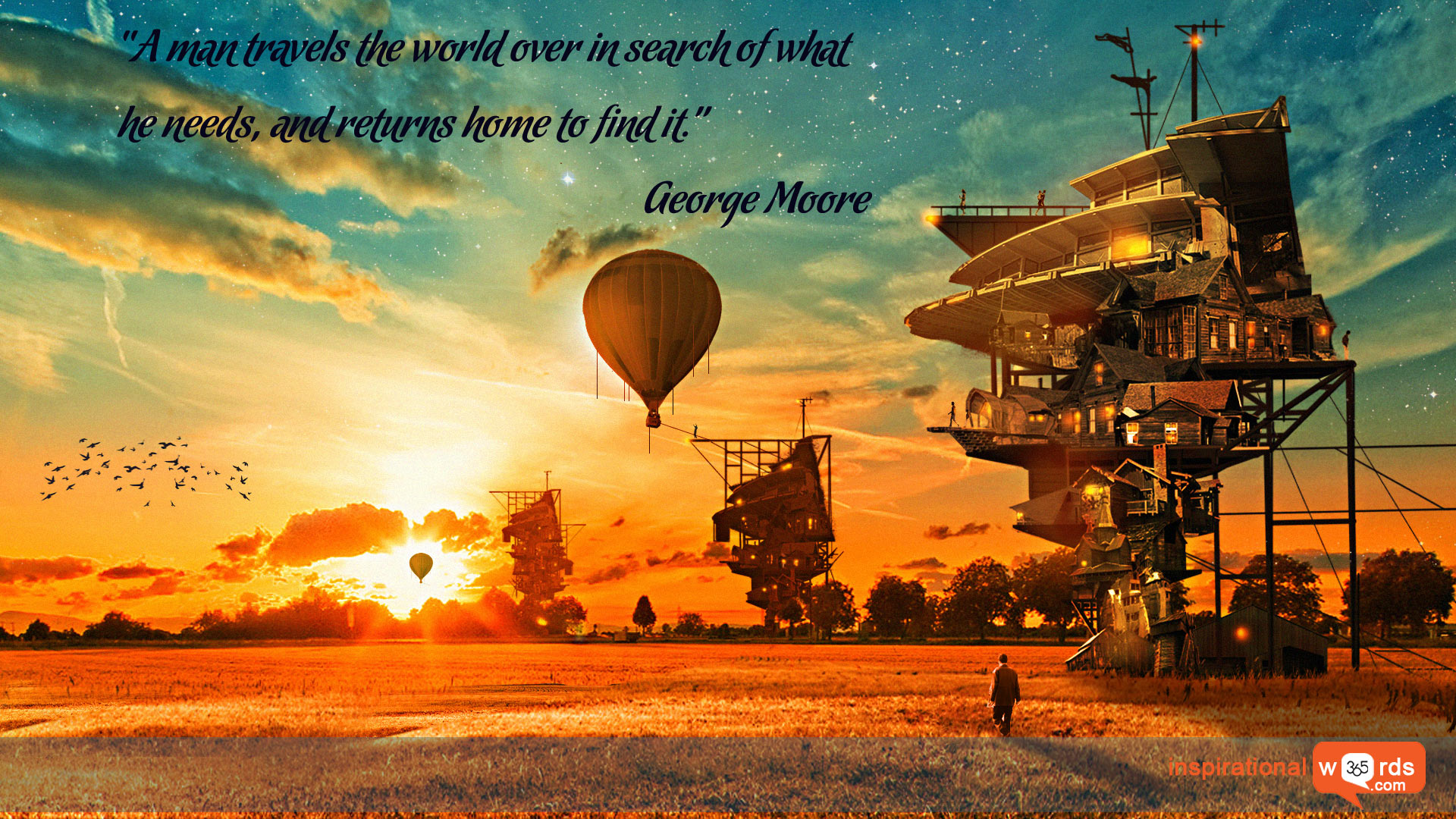 Inspirational Wallpaper Quote by George Moore