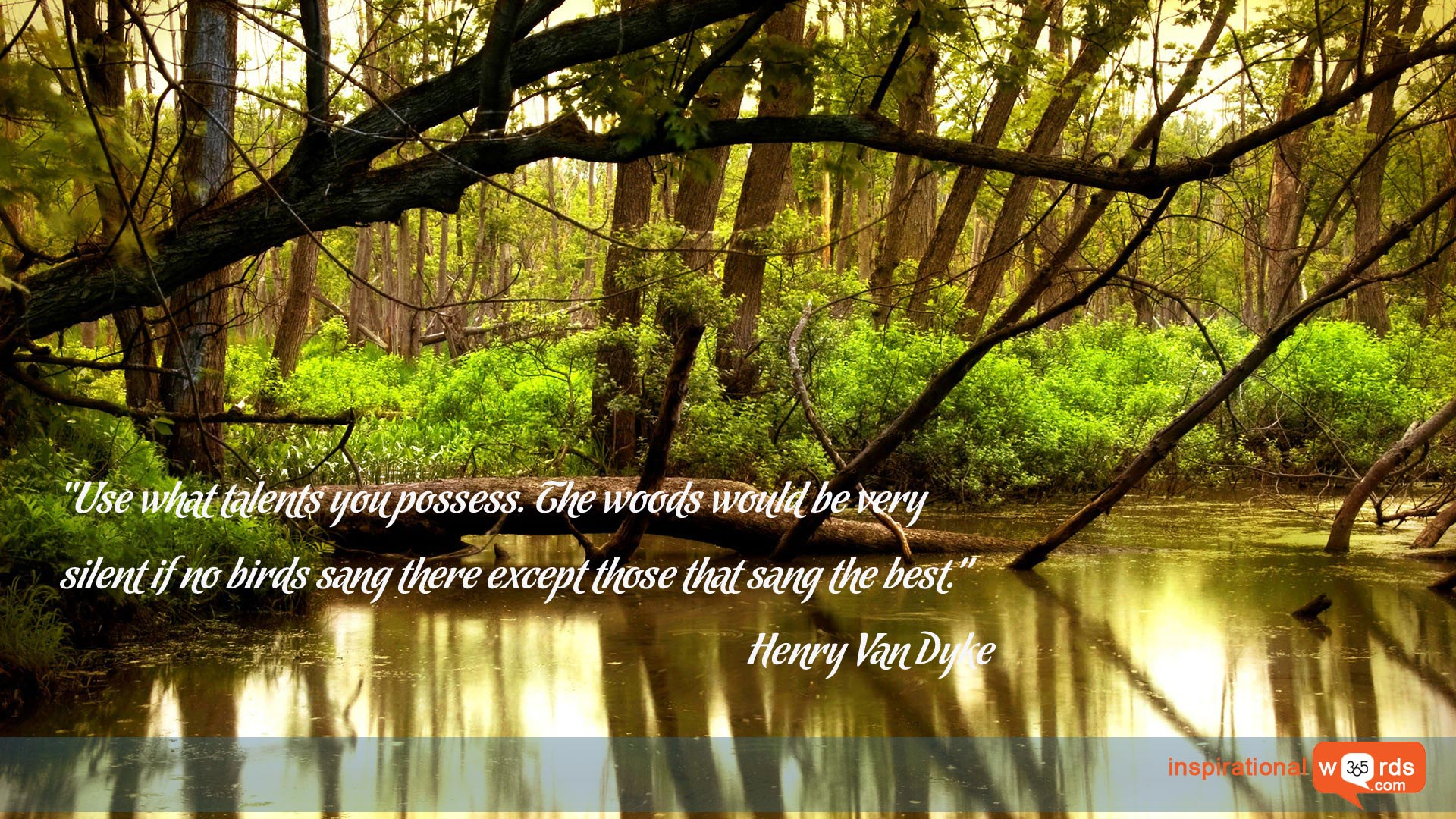Inspirational Wallpaper Quote by Henry Van Dyke