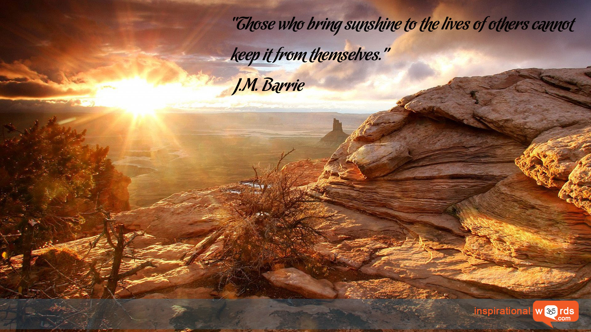 Inspirational Wallpaper Quote by J. M. Barrie