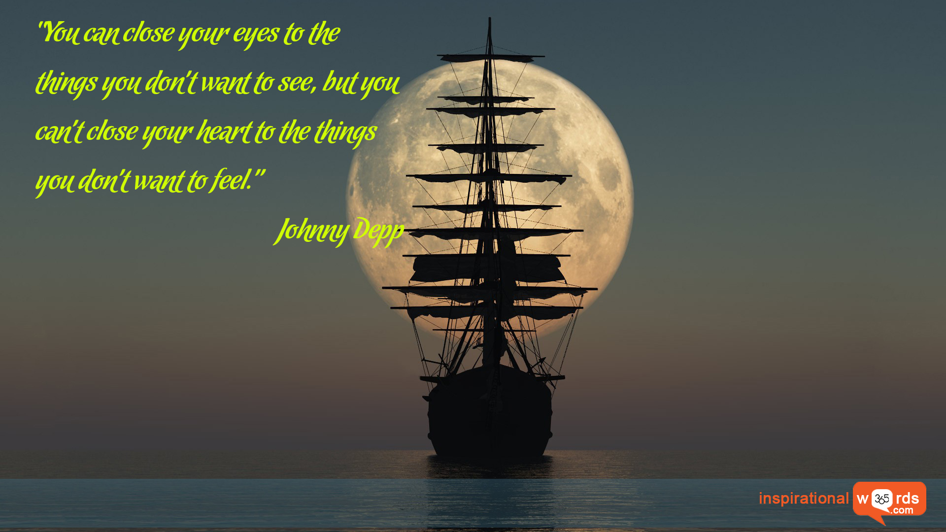 Inspirational Wallpaper Quote by Johnny Depp