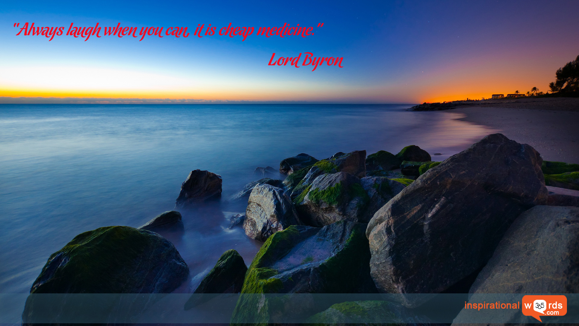 Inspirational Wallpaper Quote by Lord Byron