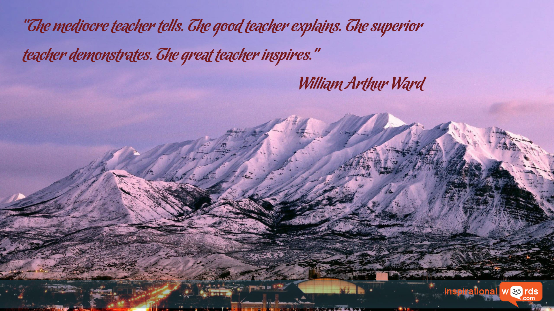 Inspirational Wallpaper Quote by William Arthur Ward