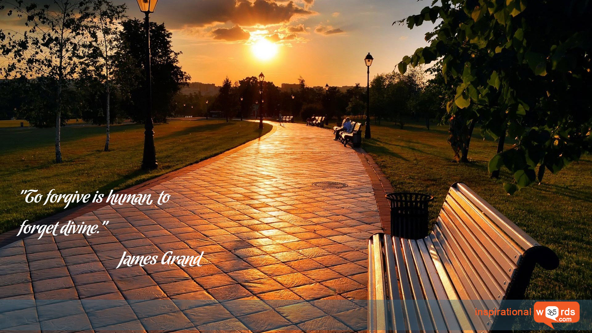 Inspirational Wallpaper Quote by James Grand