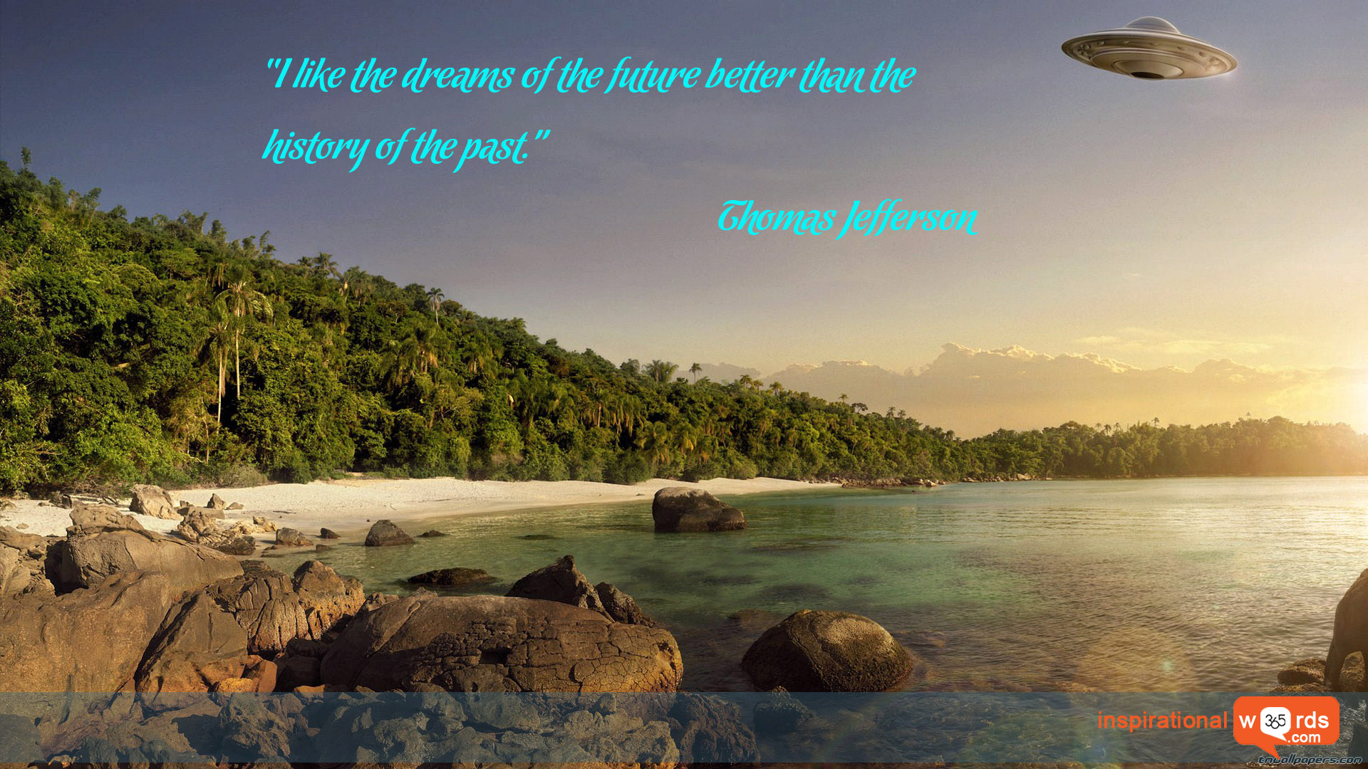 Inspirational Wallpaper Quote by Thomas Jefferson
