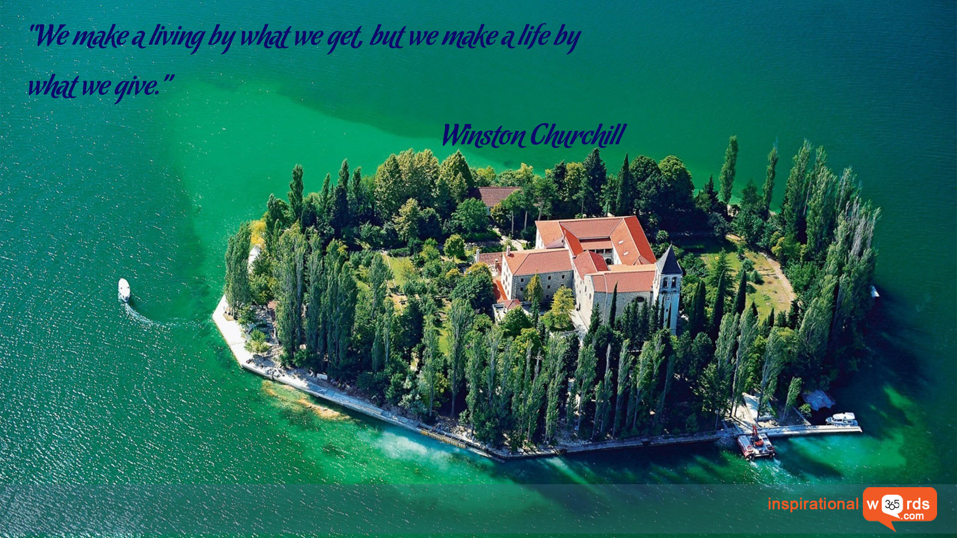 Inspirational Wallpaper Quote by Winston Churchill