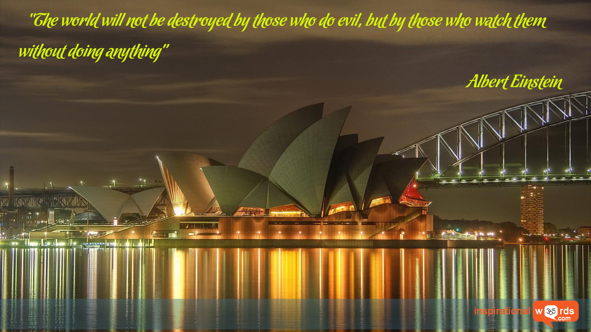 Inspirational Wallpaper Quote by Albert Einstein