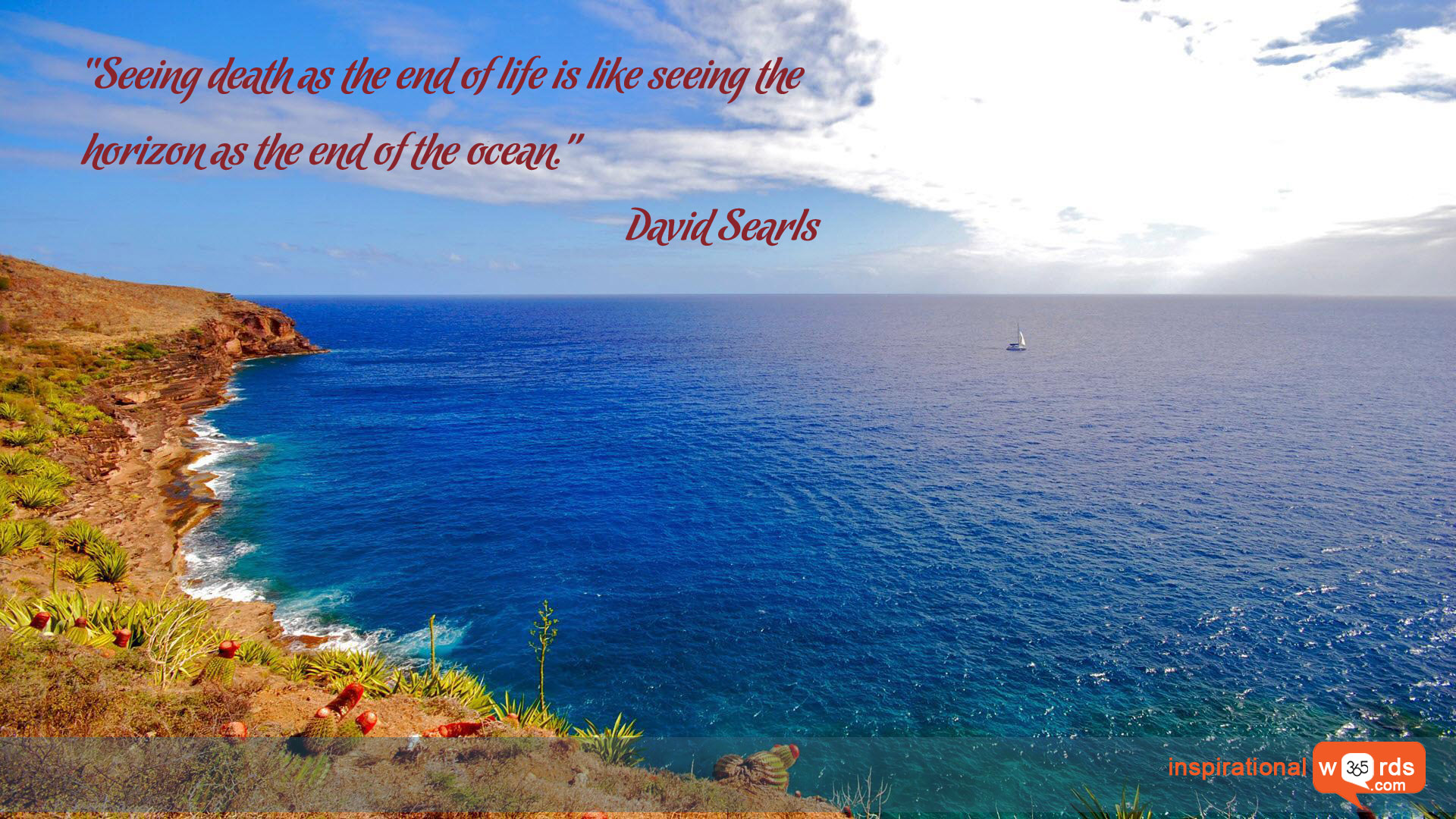 Inspirational Wallpaper Quote by David Searls