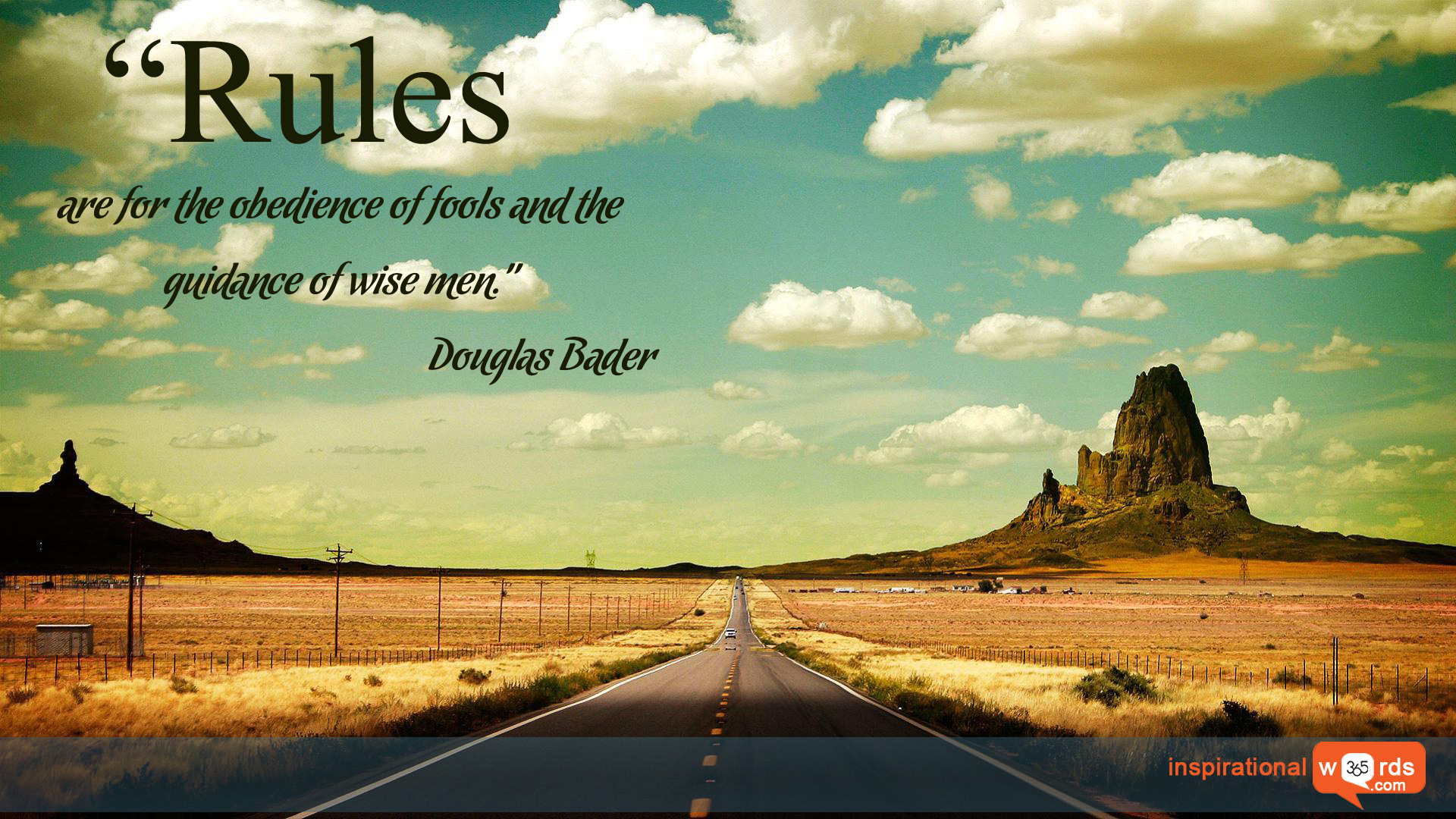 Inspirational Wallpaper Quote by Douglas Bader