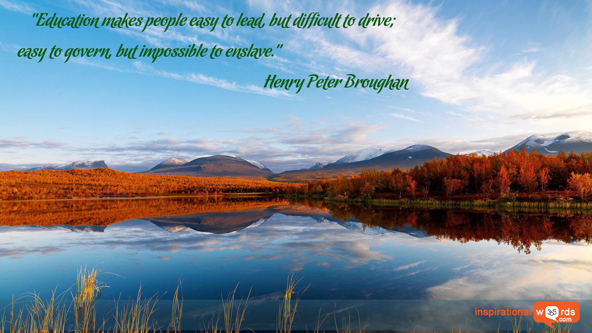 Inspirational Wallpaper Quote by Henry Peter Broughan