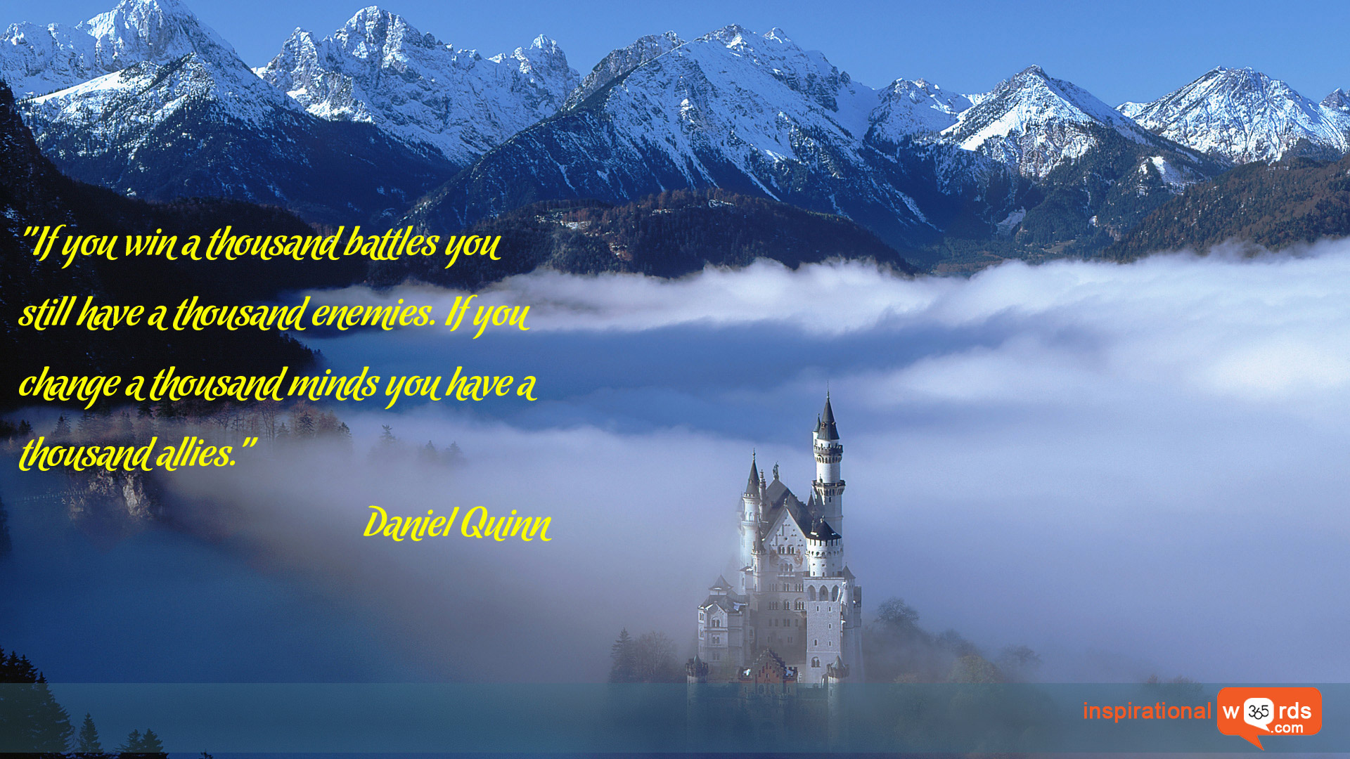 Inspirational Wallpaper Quote by Daniel Quinn