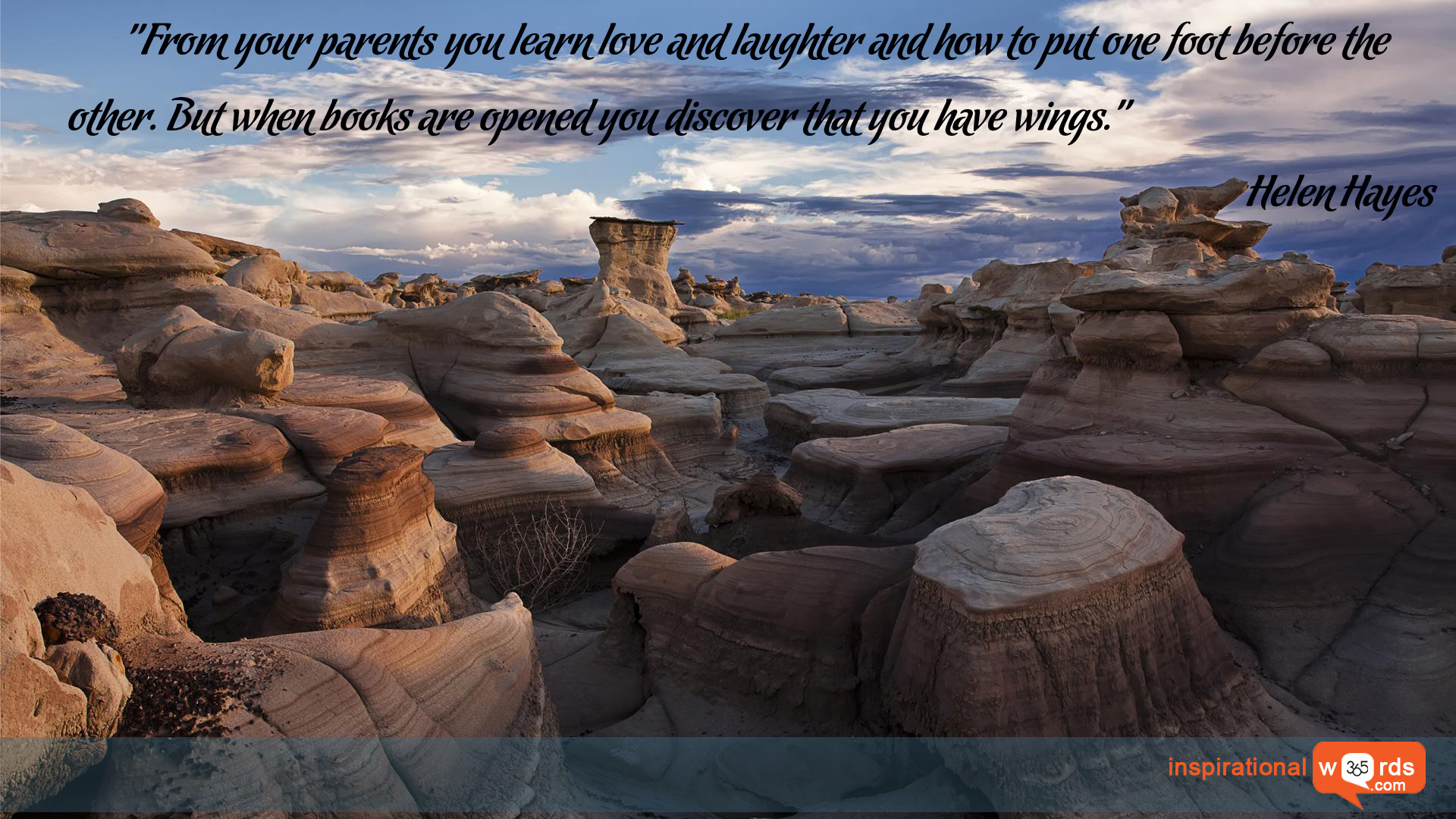 Inspirational Wallpaper Quote by Helen Hayes