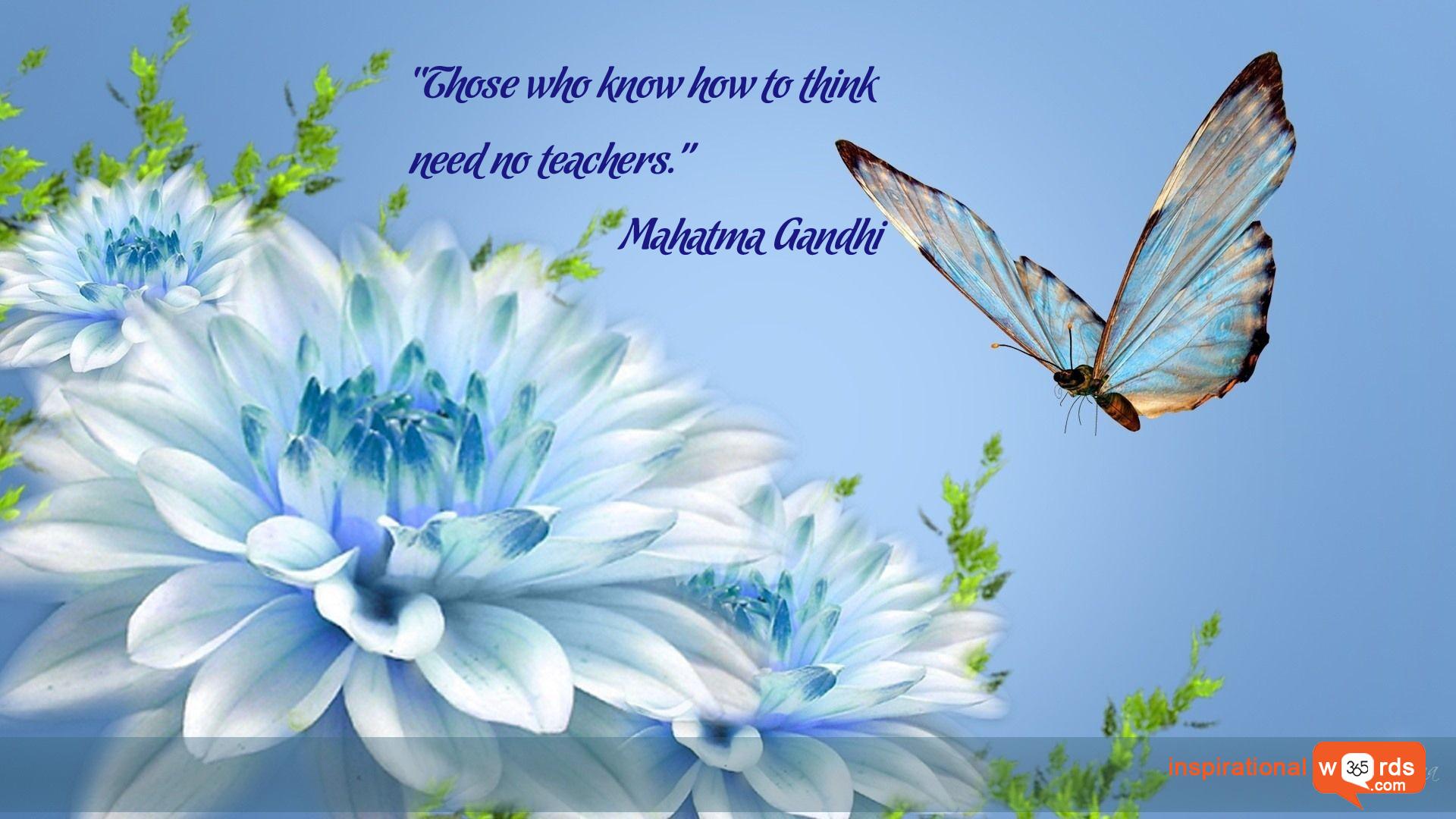Inspirational Wallpaper Quote by Mahatma Gandhi