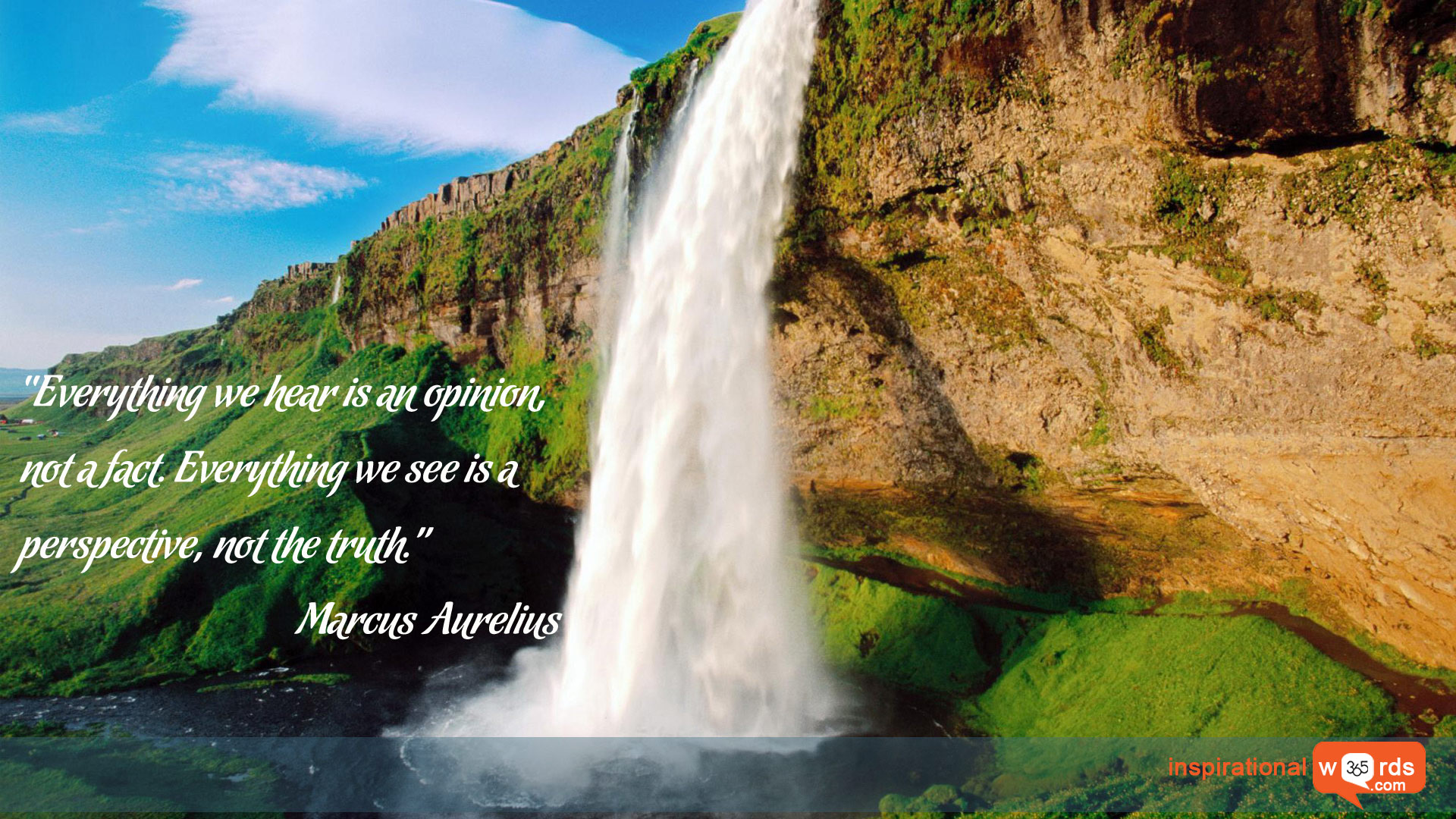 Inspirational Wallpaper Quote by Marcus Aurelius