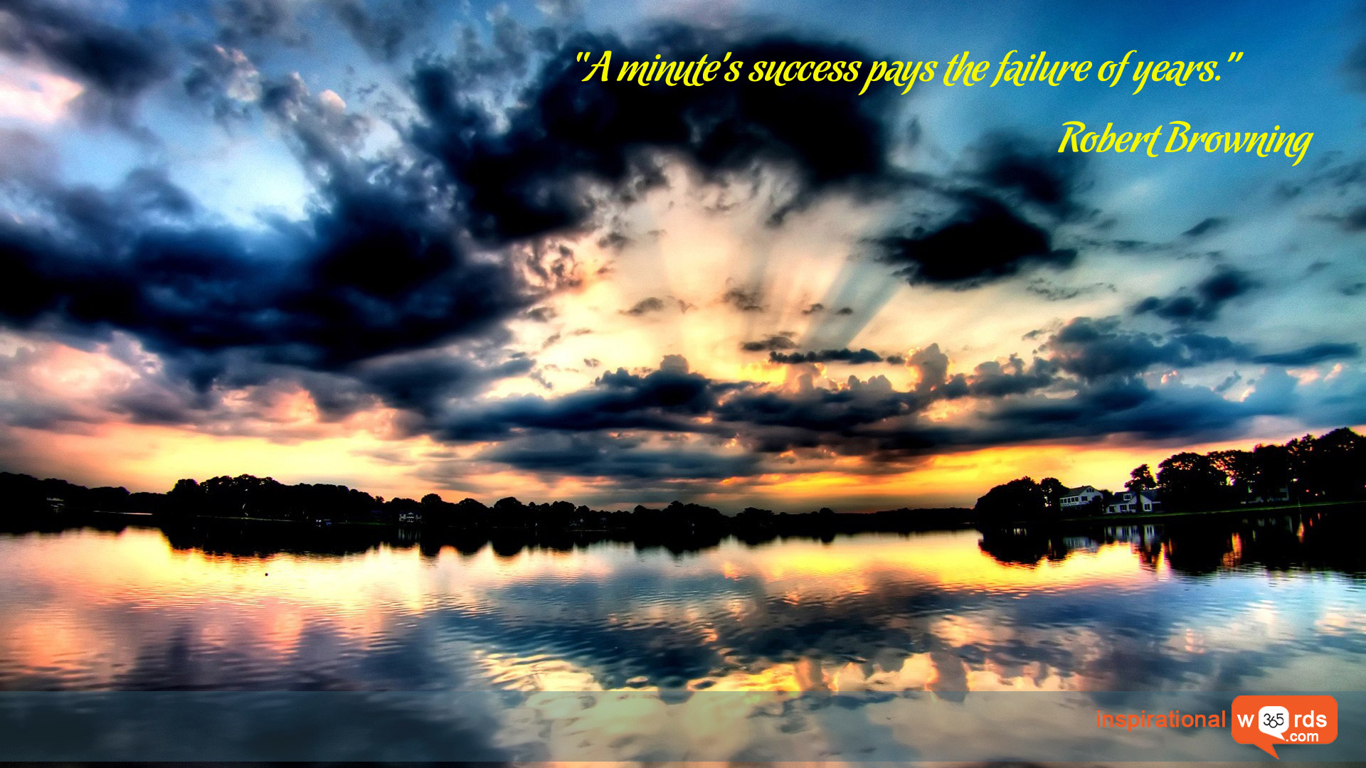 Inspirational Wallpaper Quote by Robert Browning
