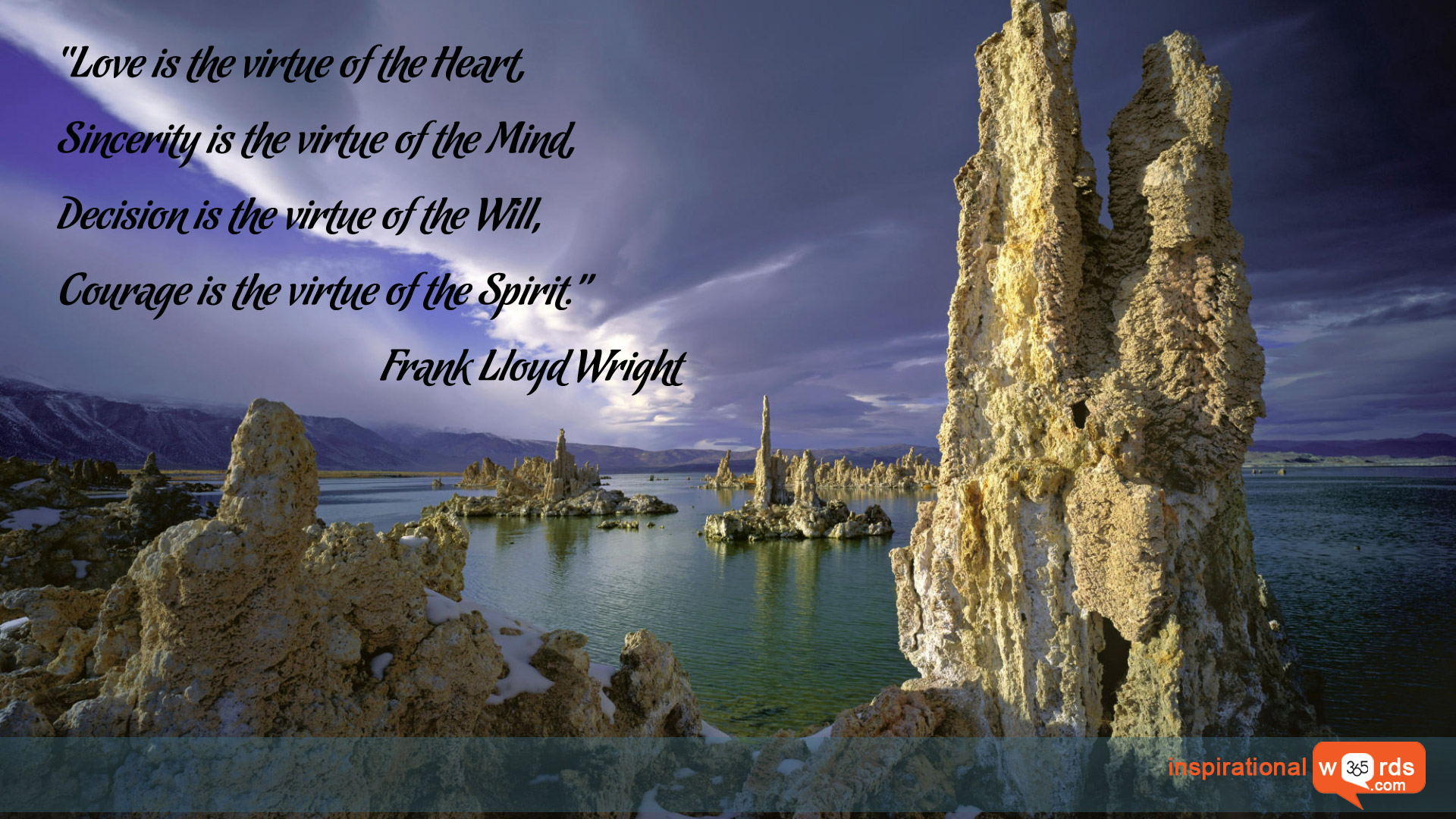 Inspirational Wallpaper Quote by Frank Lloyd Wright