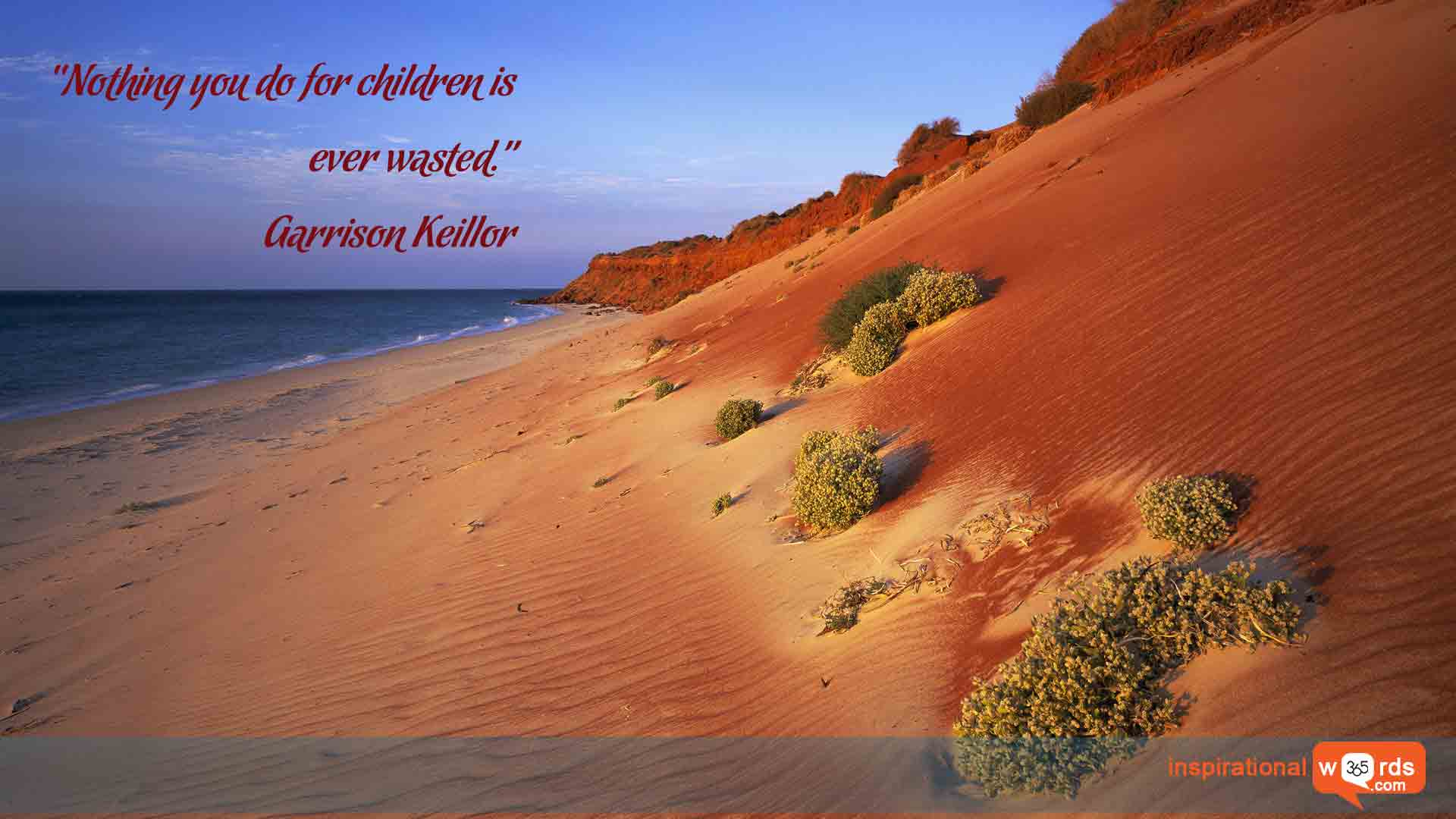 Inspirational Wallpaper Quote by Garrison Keillor