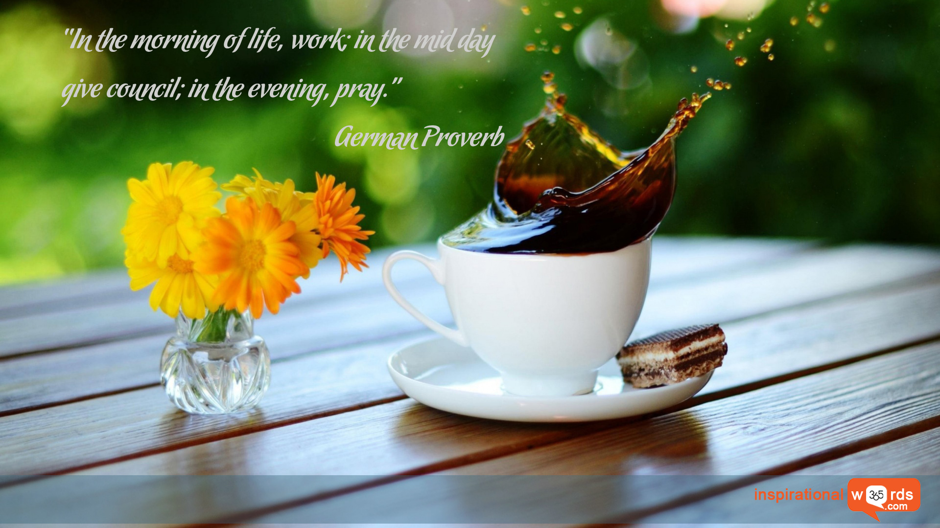 Inspirational Wallpaper Quote. German Proverb