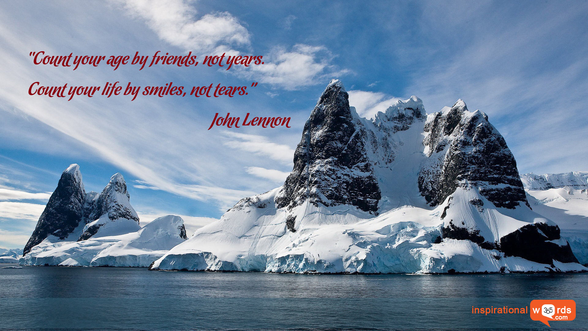 Inspirational Wallpaper Quote by John Lennon