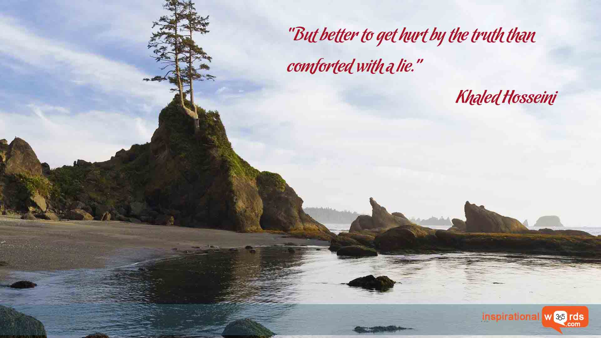 Inspirational Wallpaper Quote by Khaled Hosseini