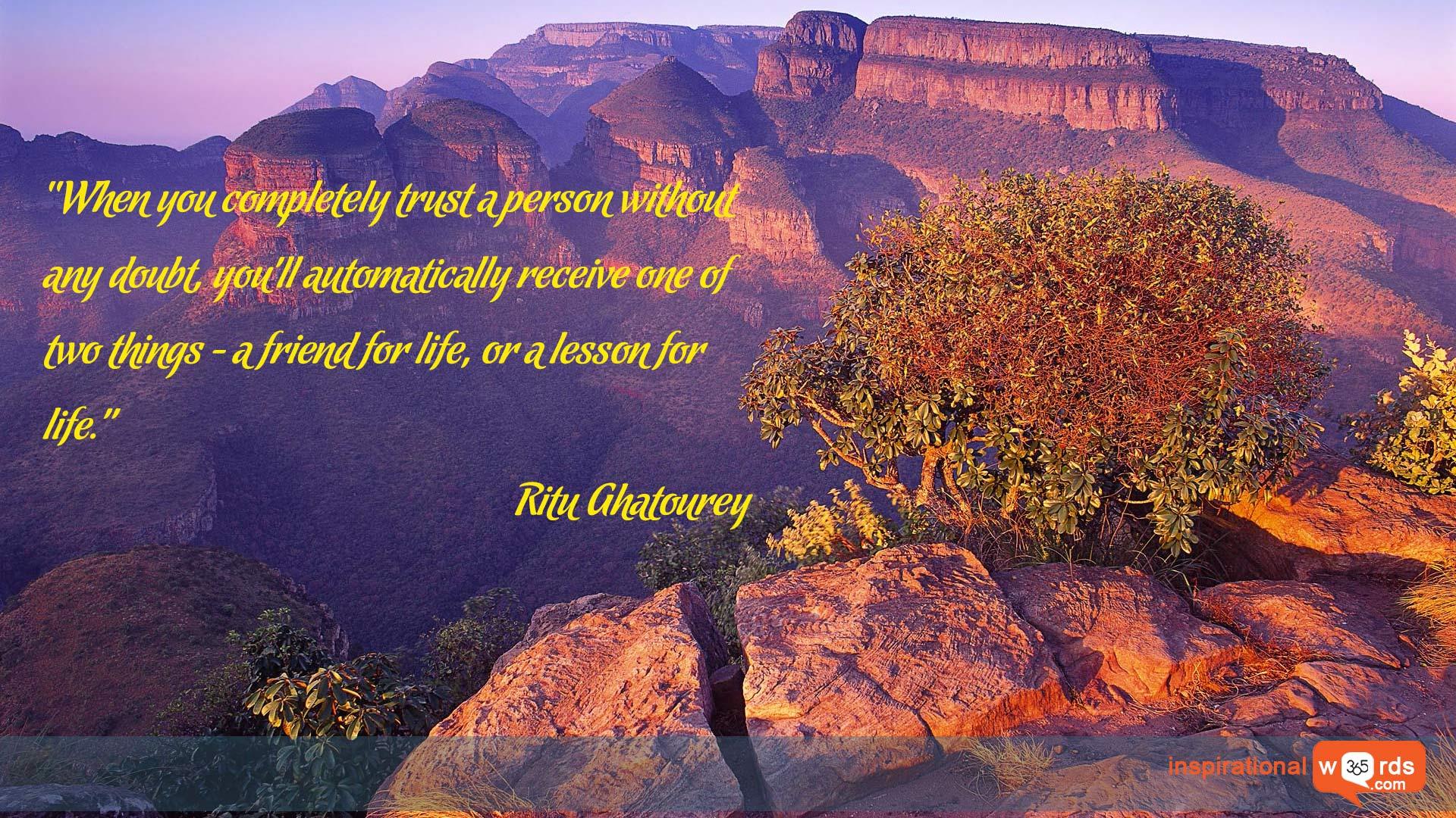 Inspirational Wallpaper Quote by Ritu Ghatourey