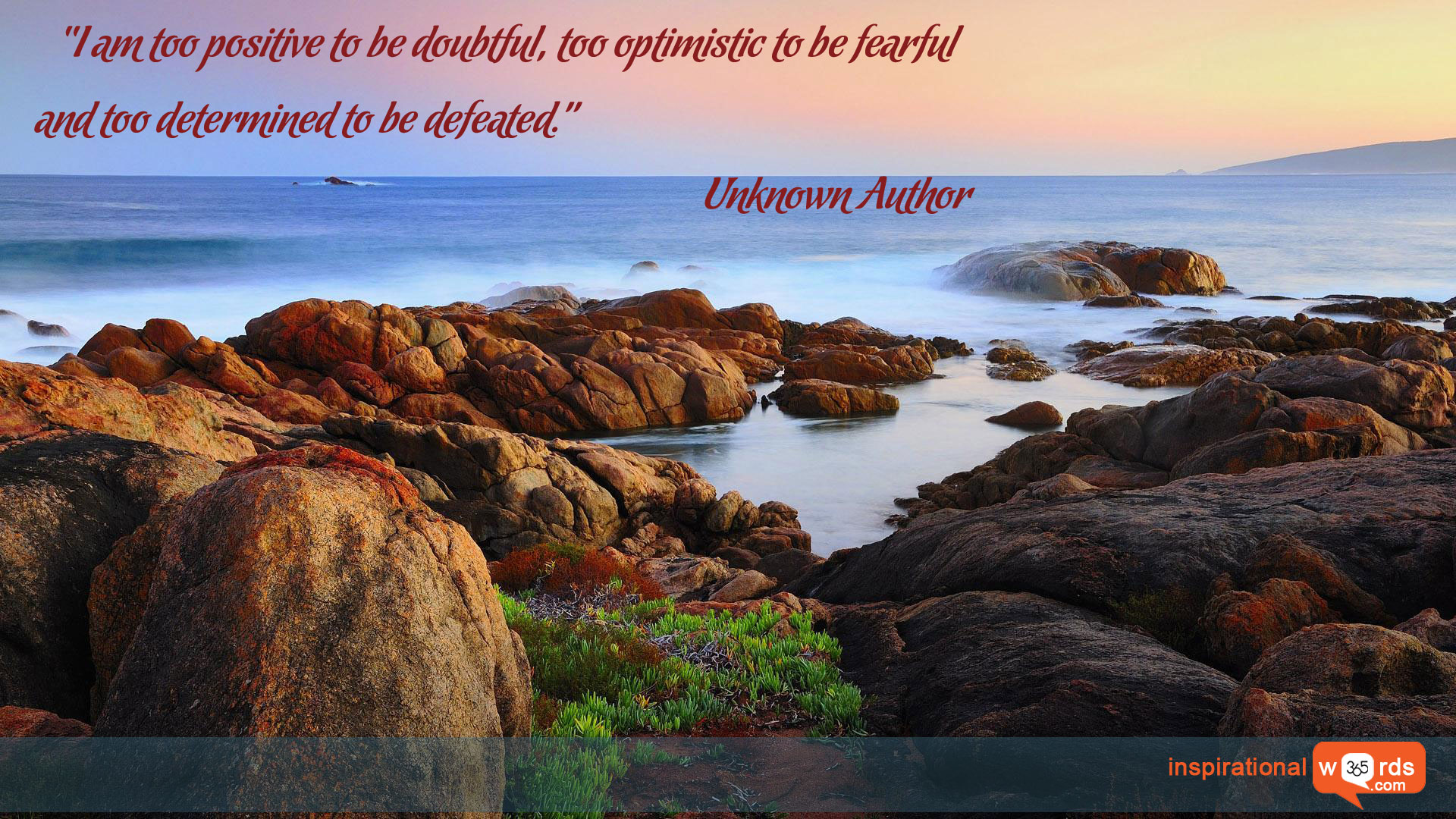 Inspirational Wallpaper Quote. Unknown Author