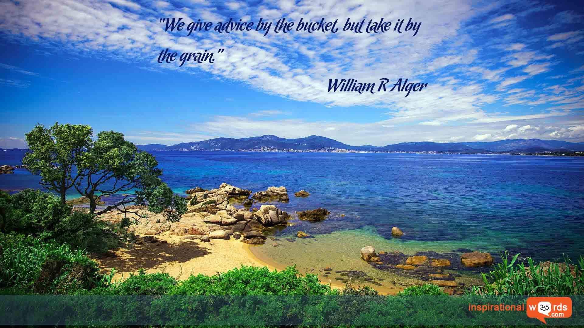 Inspirational Wallpaper Quote by William R Alger