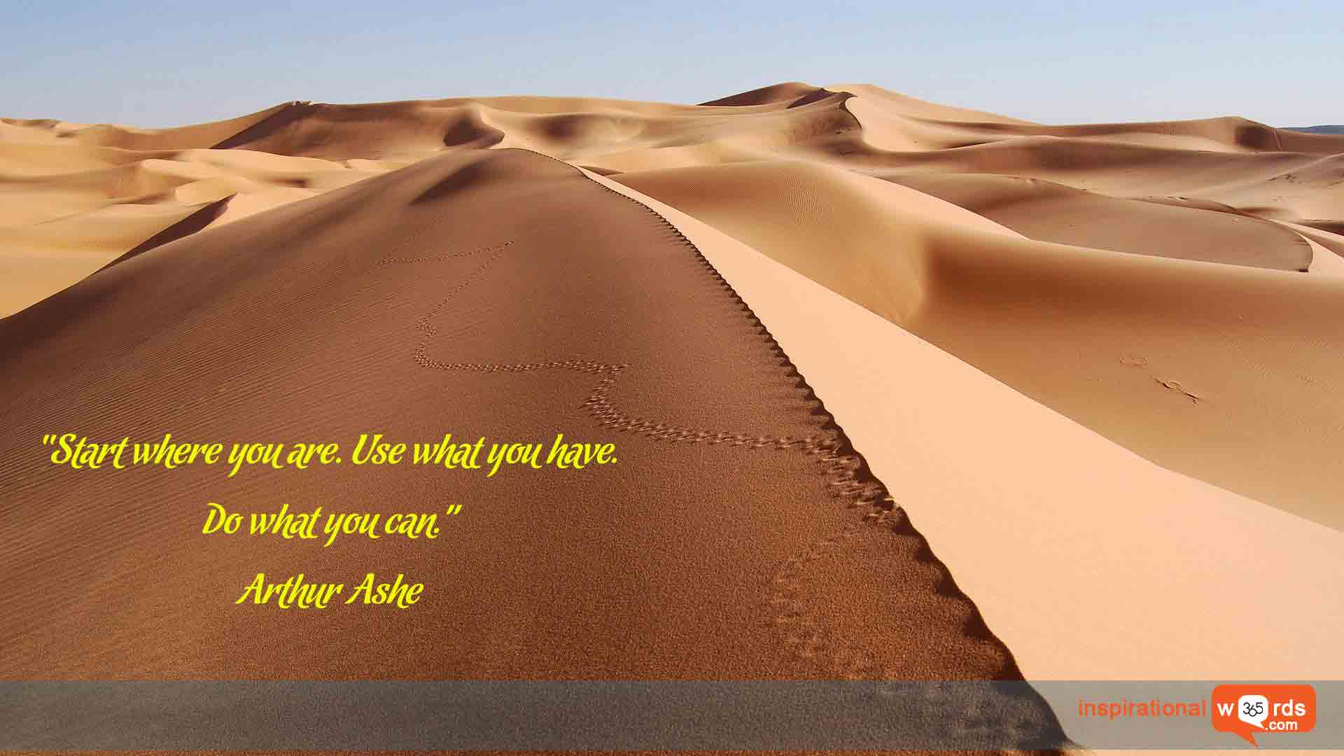 Inspirational Wallpaper Quote by Arthur Ashe