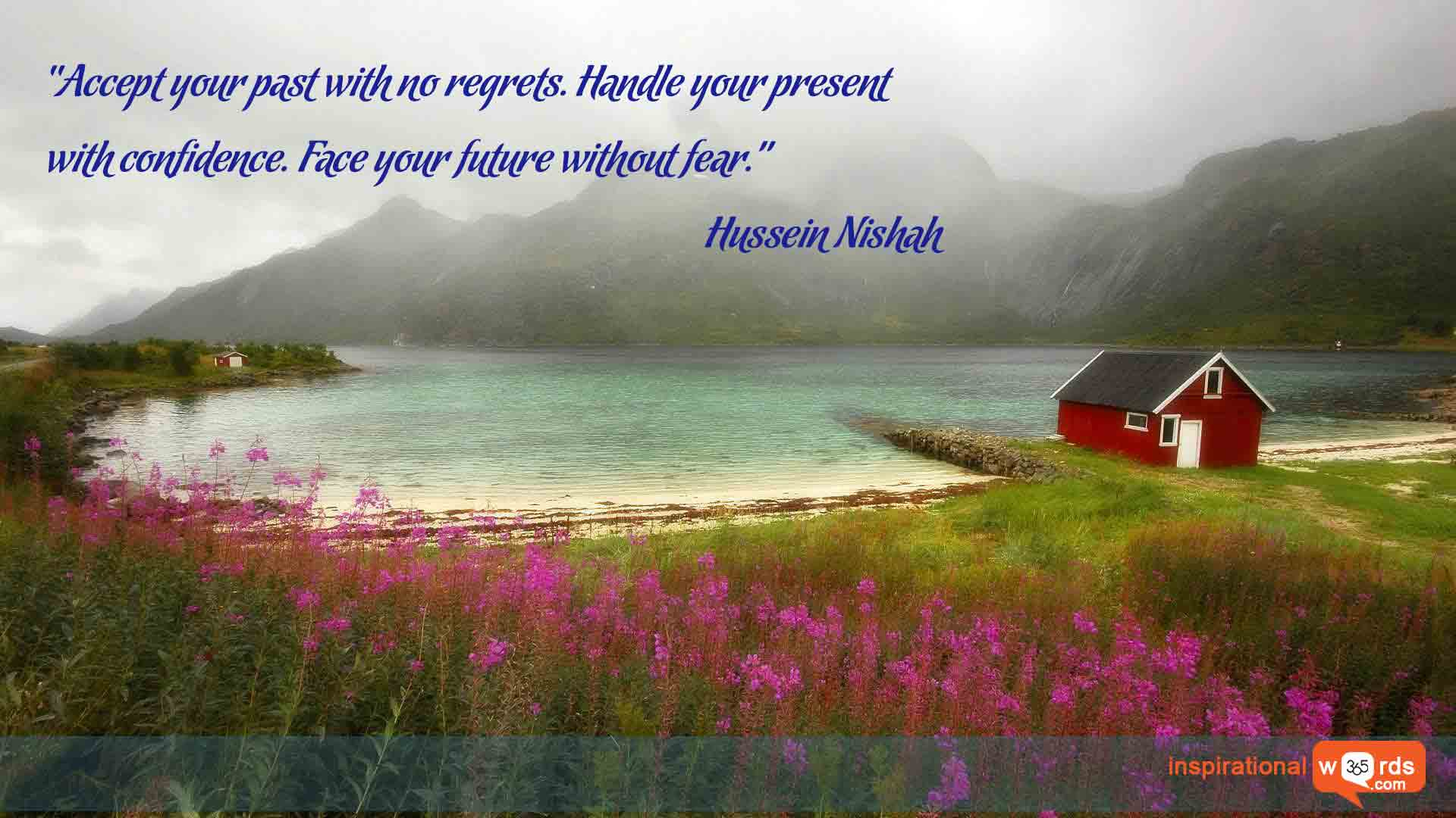 Inspirational Wallpaper Quote by Hussein Nishah