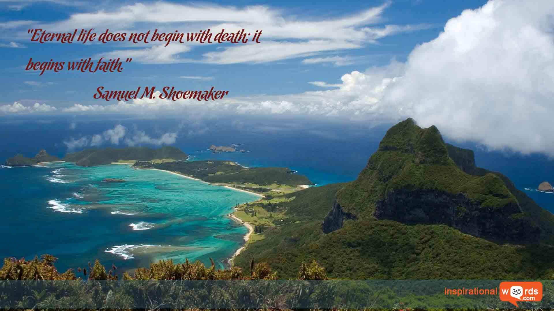 Inspirational Wallpaper Quote by Samuel M. Shoemaker