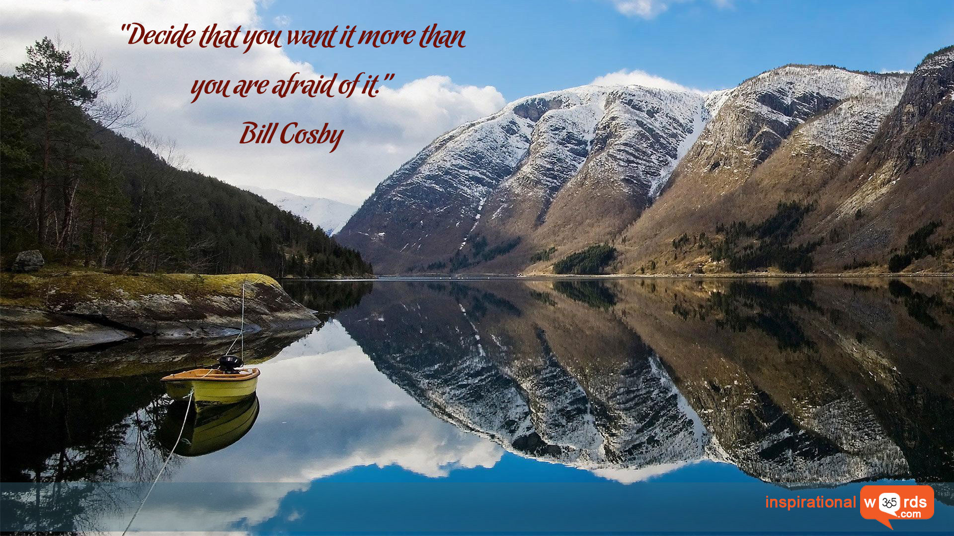 Inspirational Wallpaper Quote by Bill Cosby