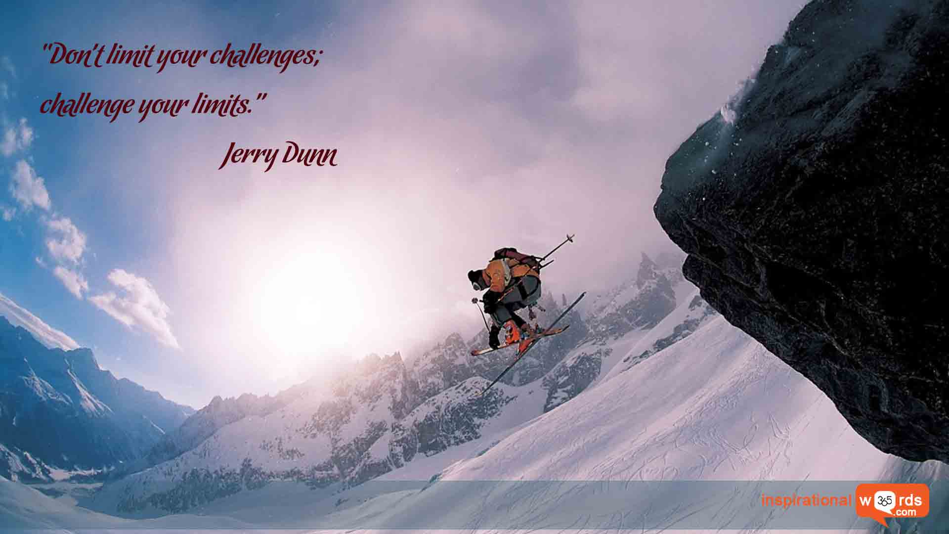 Inspirational Wallpaper Quote by Jerry Dunn