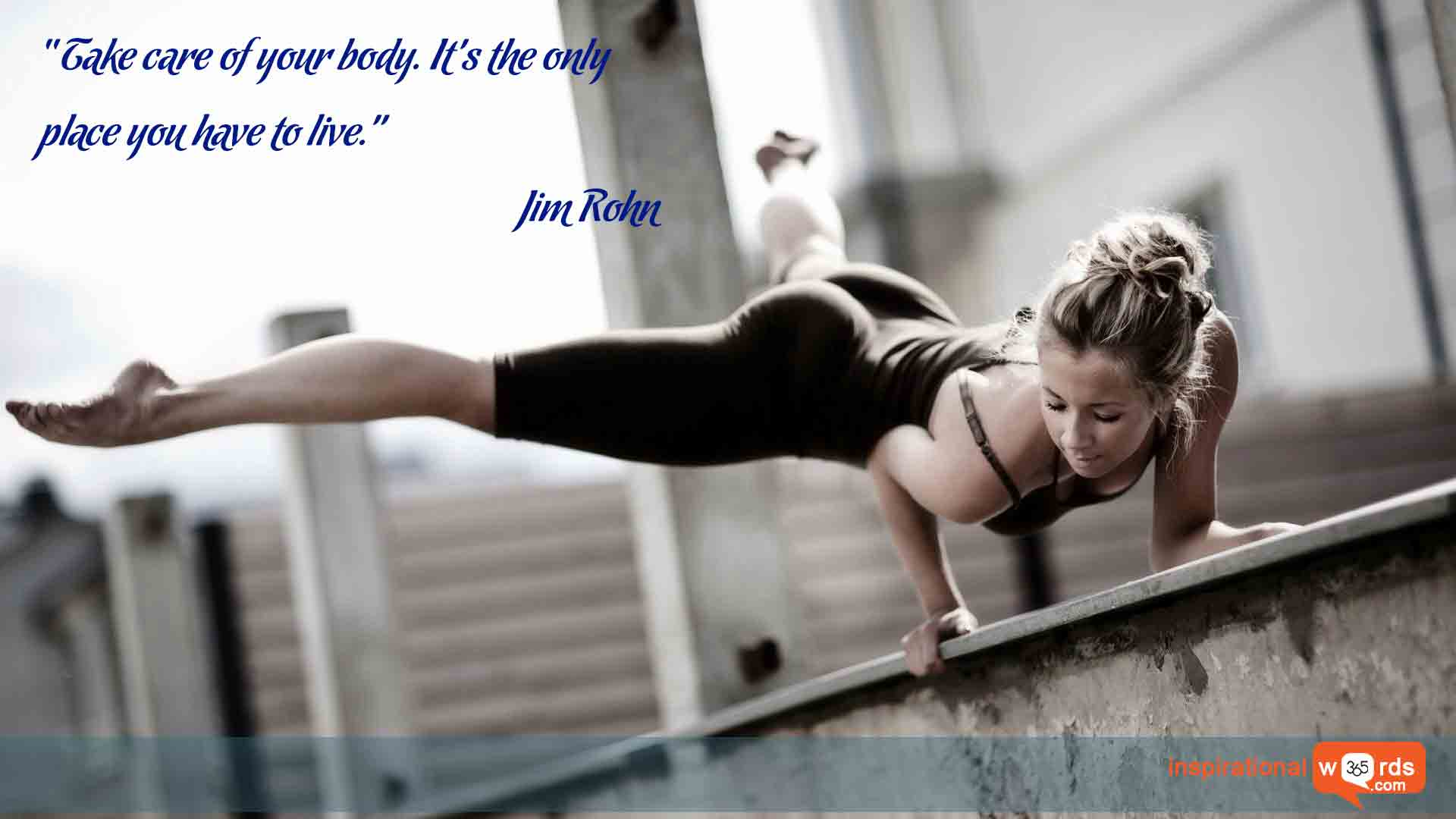 Inspirational Wallpaper Quote by Jim Rohn