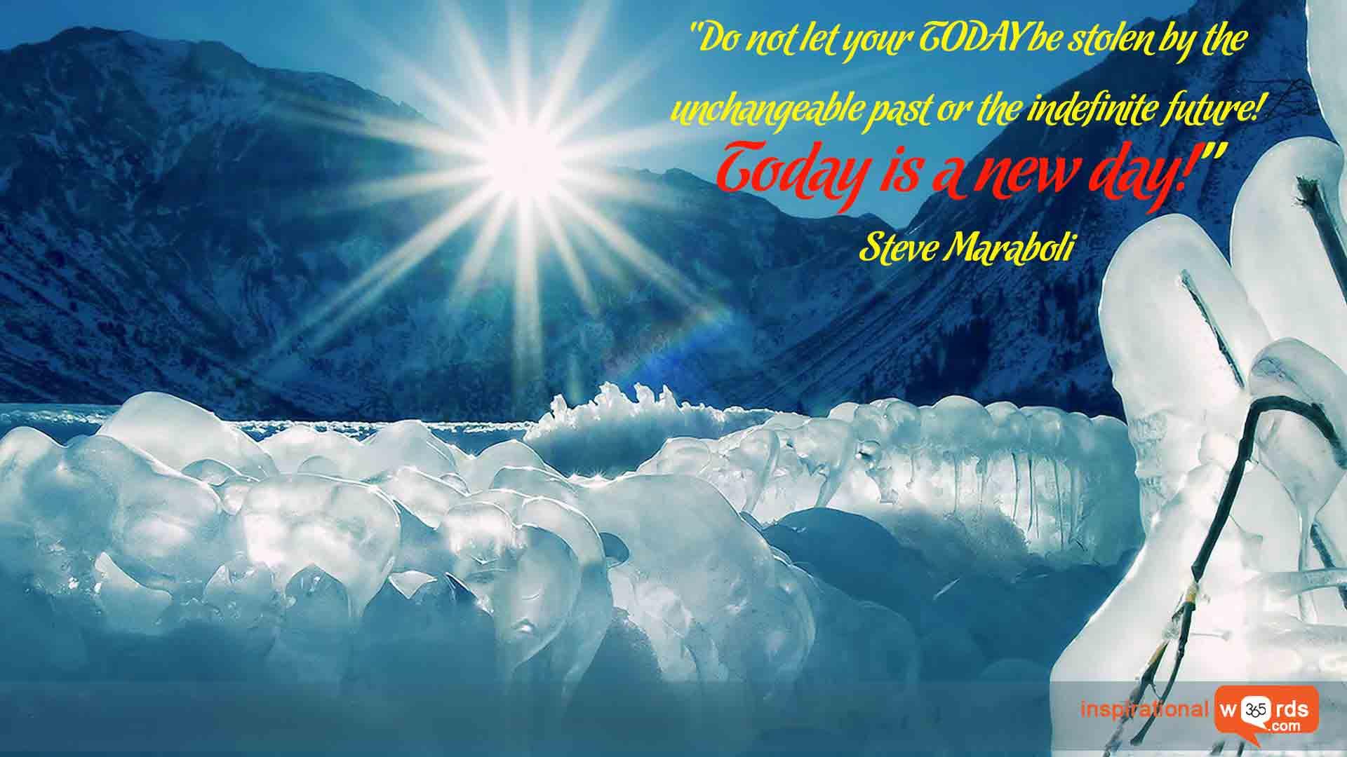 Inspirational Wallpaper Quote by Steve Maraboli