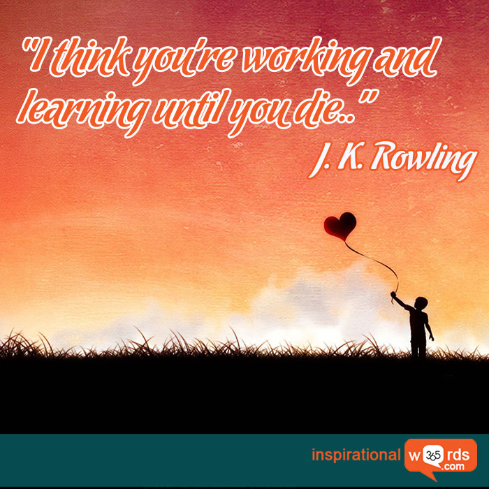 Inspirational Wallpaper Quote by J. K. Rowling
