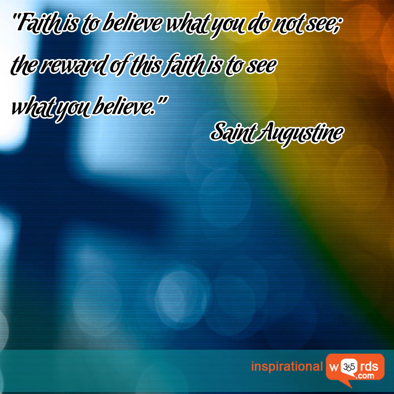 Inspirational Wallpaper Quote by Saint Augustine