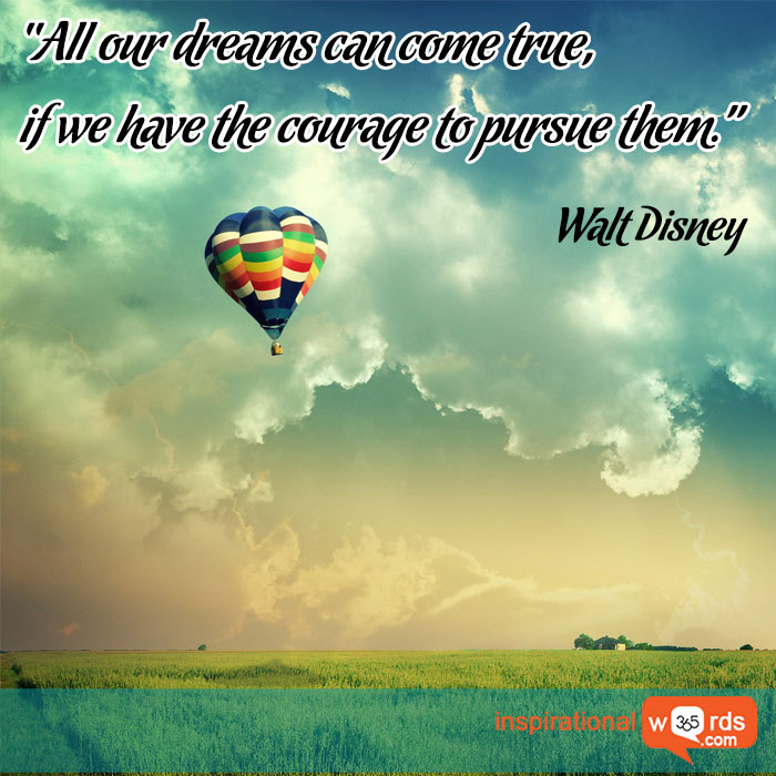 Inspirational Quotes by Walt Disney