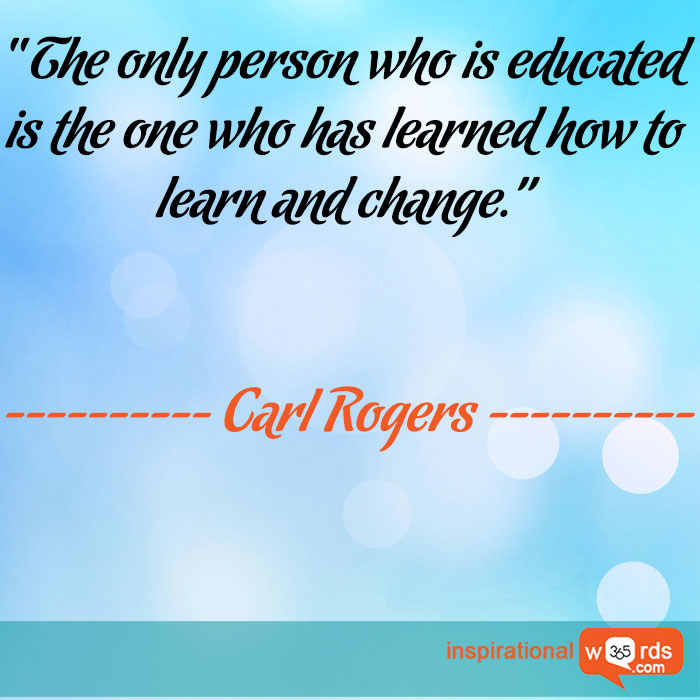 Inspirational Wallpaper Quote by Carl Rogers