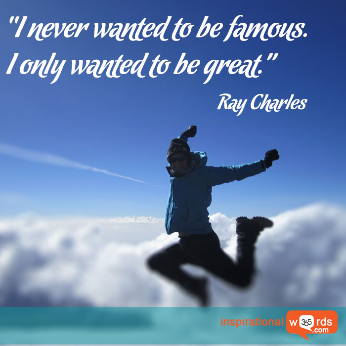Inspirational Wallpaper Quote by Ray Charles